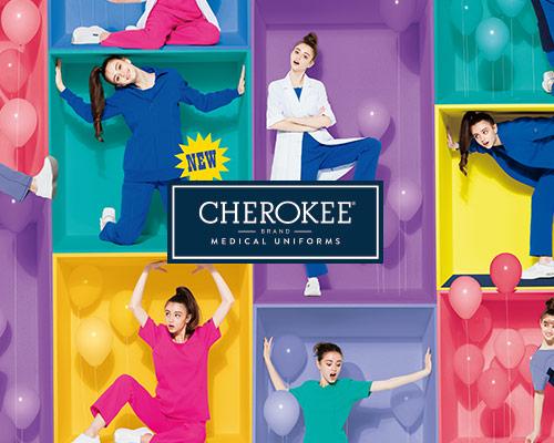 「チェロキー(CHEROKEE)」のカジュアルな女性用スクラブ・白衣